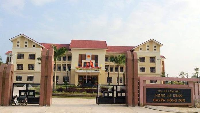 Trụ sở HĐND - UBND huyện Nông Sơn.