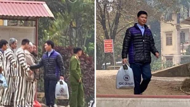 Hình ảnh cựu bác sĩ Hoàng Công Lương được mãn hạn tù.