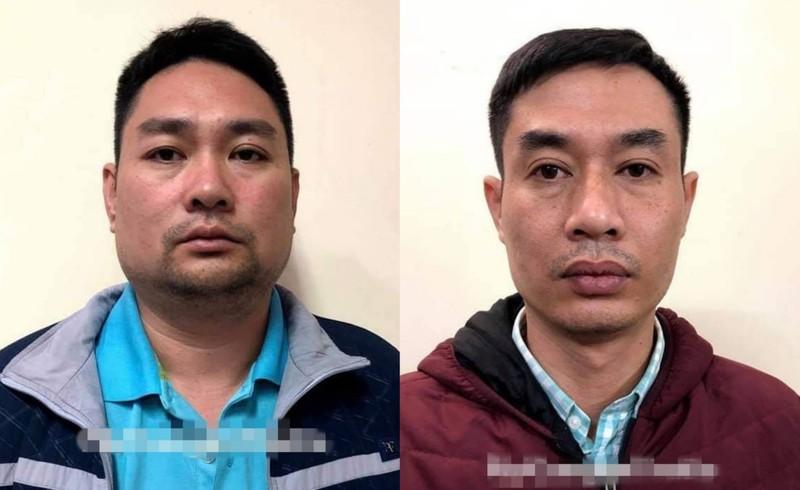 Quang và Tiến khi bị bắt giữ.