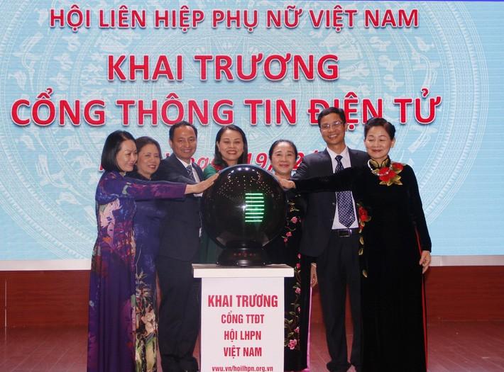 Ra mắt Cổng thông tin điện tử Hội Liên hiệp Phụ nữ Việt Nam
