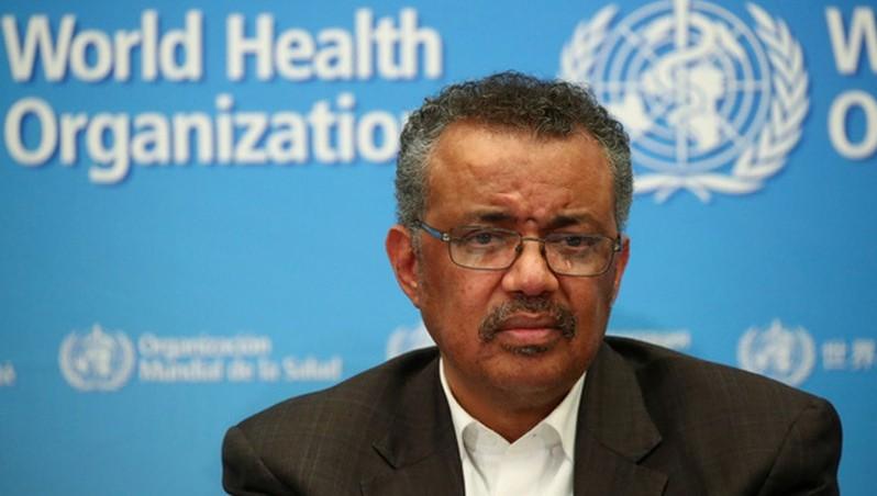 Tổng giám đốc WHO Tedros Adhanom Ghebreyesus chủ trì cuộc họp báo ở trụ sở của WHO tại Geneva, Thụy Sĩ chiều 30-1 (giờ địa phương) - Ảnh: REUTERS