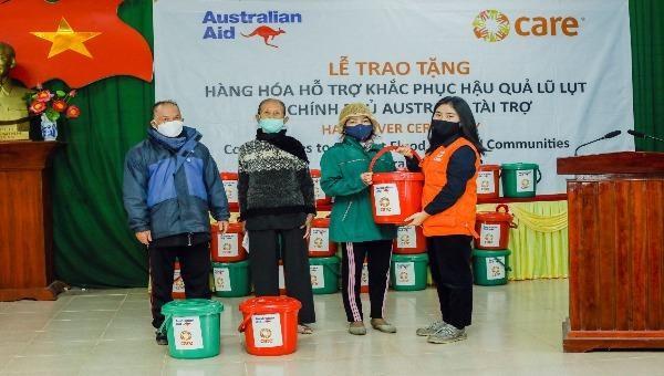 Hỗ trợ 1 triệu đô la Úc cho người dân miền Trung khắc phục hậu quả thiên tai