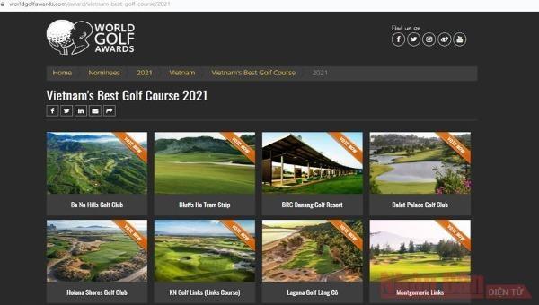 Bình chọn cho du lịch Việt Nam tại Giải thưởng Golf thế giới 2021