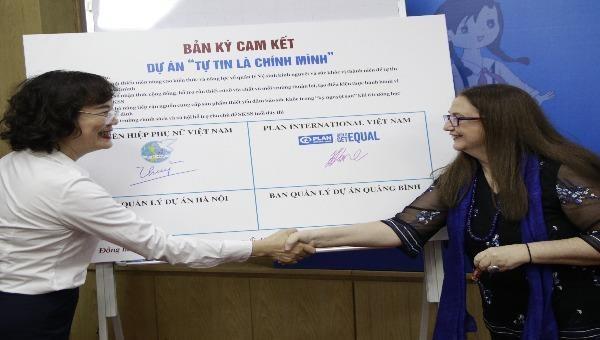 """Dự án """"Tự tin là chính mình"""" vừa được Hội LHPN Việt Nam và tổ chức Plan International Việt Nam ra mắt ngày 2/4."""