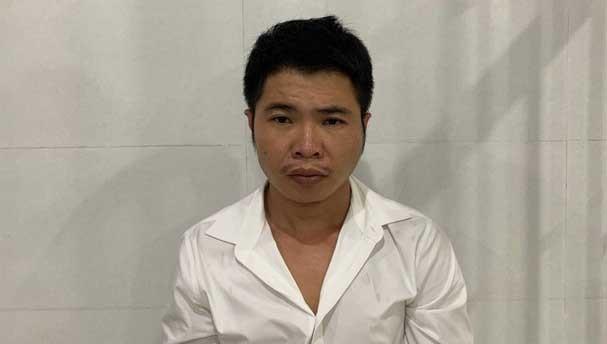 Trần Đình Tài tại cơ quan điều tra.