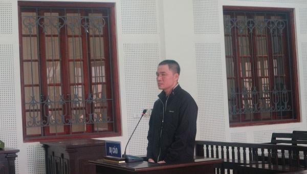 Bị cáo Bùi Văn Thành tại tòa.