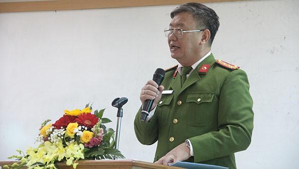 Đại tá Vũ Văn Hậu, Phó Cục trưởng Cục Cảnh sát ĐTTP về ma túy, Bộ Công an phát biểu khai mạc Hội thảo