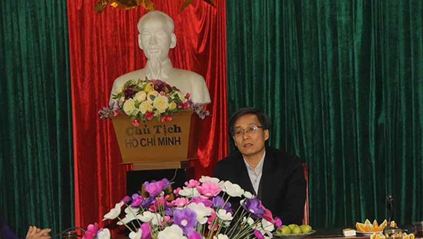 Thứ trưởng Nguyễn Khánh Ngọc làm việc với Sở Tư pháp Nghệ An