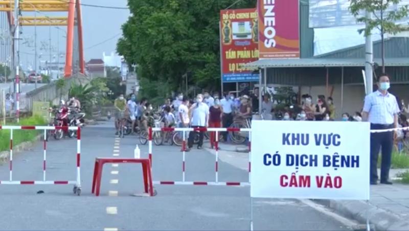 Hà Nam: Hoàn thành thời gian cách ly y tế tại cụm dân cư ở phố Đình Tràng.