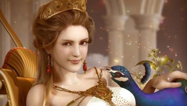 Họa hình 3D về Nữ thần Hera.