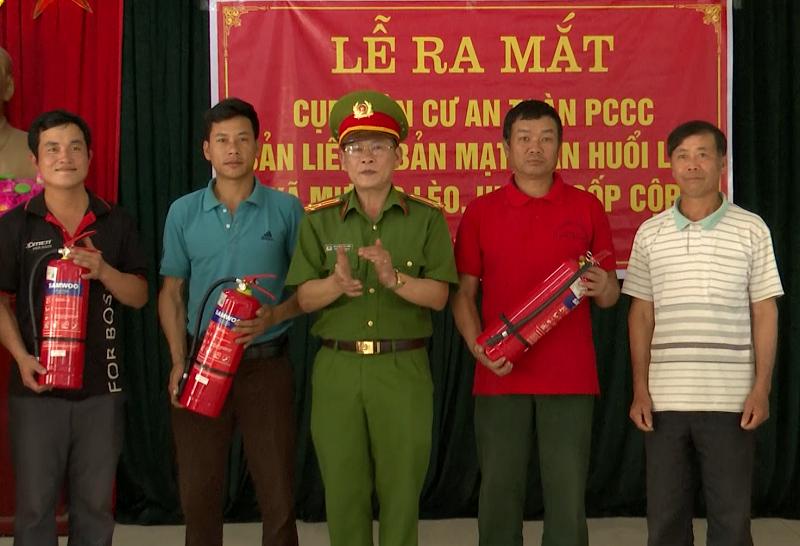 Sơn La xây dựng cụm dân cư phòng cháy chữa cháy tại xã biên giới