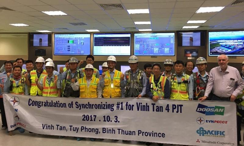 Tổ máy số 1 Nhà máy Nhiệt điện Vĩnh Tân 4 hòa lưới lần đầu thành công