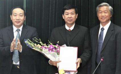 Đại tá Phạm Quốc Hiếu (giữa) trước khi biệt phái sang Bộ GTVT làm Phó Cục trưởng là người của Tổng cục Hậu cần Kỹ thuật, nhưng giờ Tổng cục này không tồn tại ở Bộ Công an