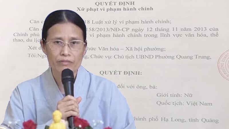 Bà Phạm Thị Yến khiếu nại quyết định xử phạt hành chính