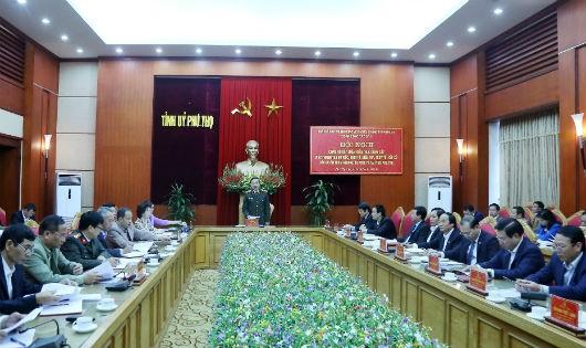 Đồng chí Tô lâm, Ủy viên Bộ Chính trị, Bộ trưởng Bộ Công an phát biểu tại hội nghị.
