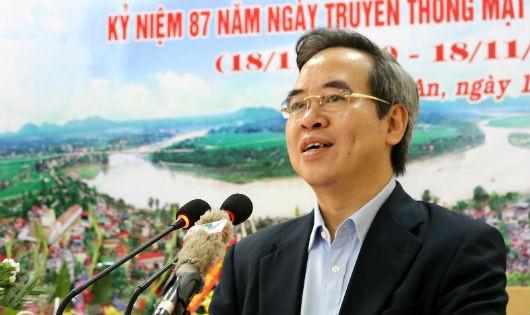 Trưởng ban Kinh tế Trung ương Nguyễn Văn Bình phát biểu tại Ngày hội Đại đoàn kết toàn dân tộc. Ảnh: Trung Kiên.