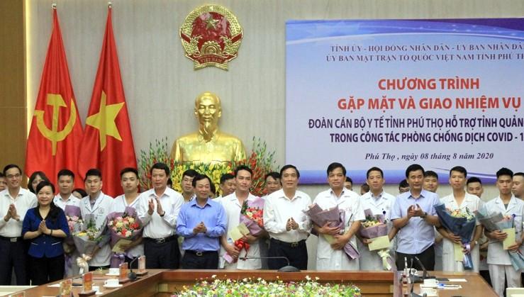 Đoàn bác sĩ, điều dưỡng Phú Thọ lên đường 'chia lửa' với Quảng Nam