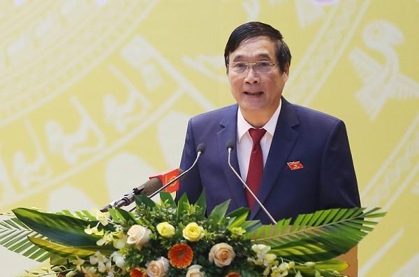 Đồng chí Bùi Minh Châu, Ủy viên BCH Trung ương Đảng, Bí thư Tỉnh ủy, Chủ tịch HĐND tỉnh, Trưởng Đoàn ĐBQH tỉnh Phú Thọ