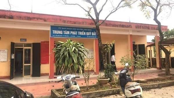 Trụ sở Trung tâm Phát triển Quỹ đất huyện Yên Bình.