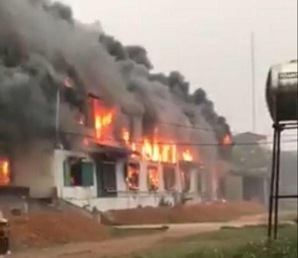 Cháy lớn tại công ty Phi Long Hải Dương, thiệt hại hàng chục tỷ đồng