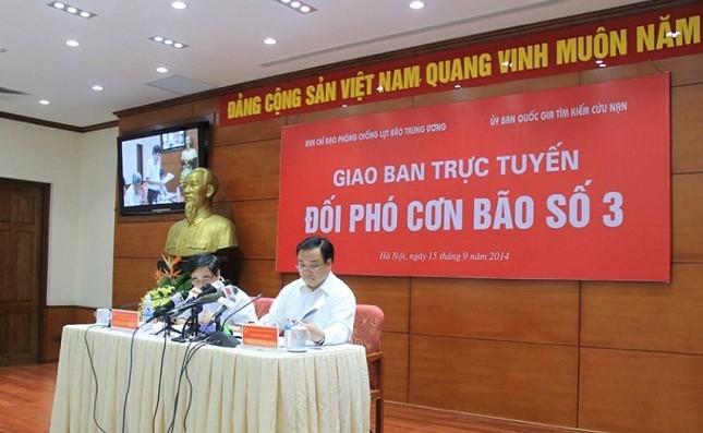 Chính phủ họp giao ban trực tuyến với 26 tỉnh, đối phó cơn bão số 3