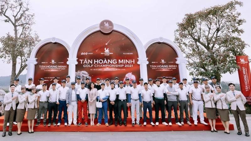 Toàn cảnh lễ khai mạc Tân Hoàng Minh Golf Championship 2021