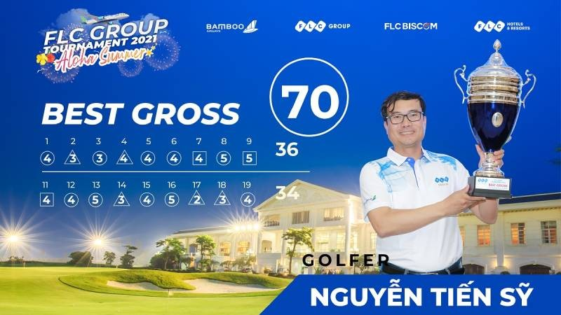 Golfer Nguyễn Tiến Sỹ vô địch FLC Group Tournament 2021