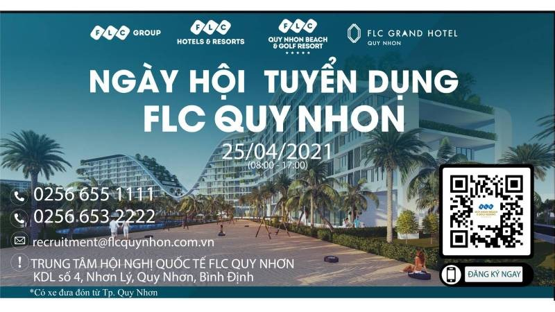 Ngày hội tuyển dụng FLC Quy Nhơn diễn ra trong ngày 25/4/2021.