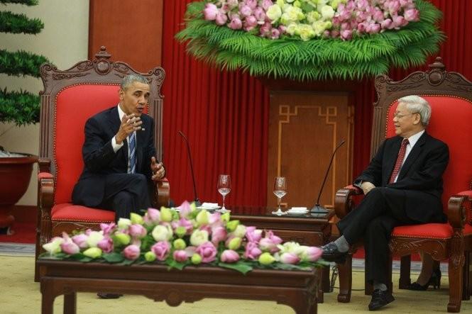 Tổng thống Obama Hội kiến Tổng Bí thư Nguyễn Phú Trọng