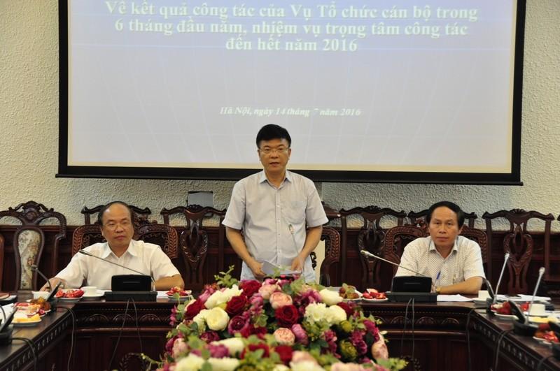 """Bộ trưởng Lê Thành Long: """"Công tác tổ chức cán bộ cần góp phần tạo luồng sinh khí mới"""""""