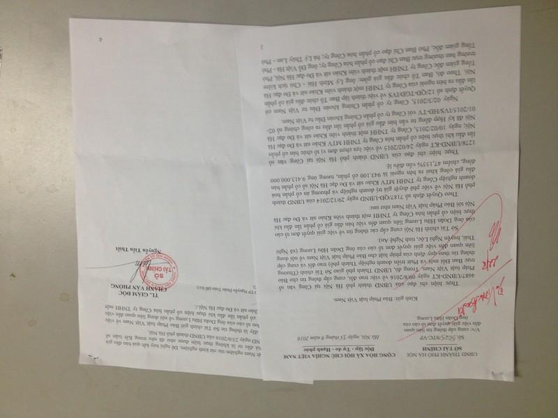 Văn bản trả lời của Sở Tài chính dù thừa nhận có vi phạm trong đấu giá nhưng khong thể hủy kết quả.