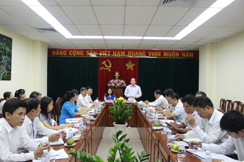 Thứ trưởng Bộ Tư pháp Lê Tiến Châu làm việc với Sở Tư pháp Đồng Nai