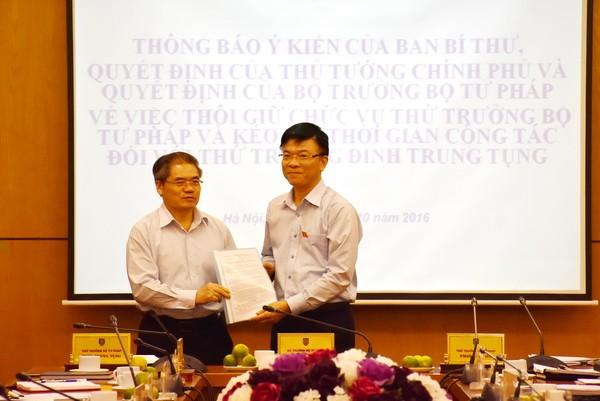 Ngành Tư pháp ghi nhận những đóng góp của Thứ trưởng Đinh Trung Tụng