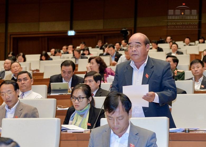 ĐB K'Choi, Đăk Nông, cho rằng, việc tinh gọn tổ chức thực hiện TGPL của Nhà nước nhằm nâng cao hiệu quả hoạt động TGPL là phù hợp