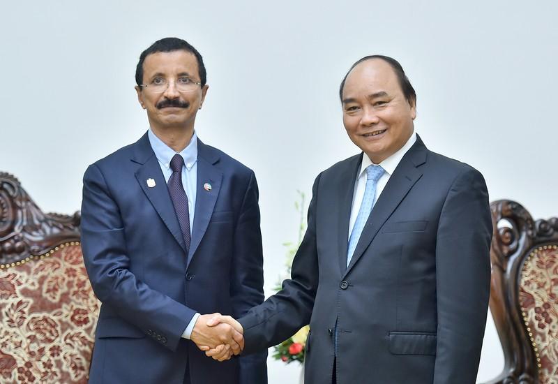 Thủ tướng Nguyễn Xuân Phúc đã tiếp Chủ tịch, Tổng Giám đốc Tập đoàn DP World của Các Tiểu vương quốc Arập Thống nhất (UAE), ông Sultan Ahmad Bin Sulayem.