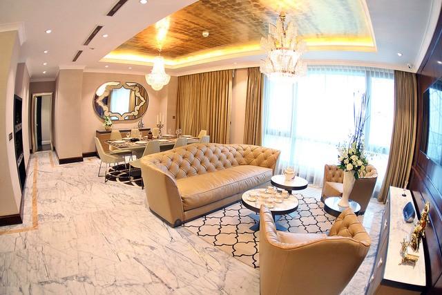Nội thất xa hoa, bóng bẩy bên trong tháp căn hộ cao cấp đắt giá bậc nhất Việt Nam.