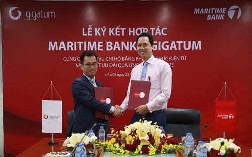 Maritime Bank hợp tác với Gigatum mang đến  dịch vụ hoàn tiền tự động đầu tiên tại Việt Nam