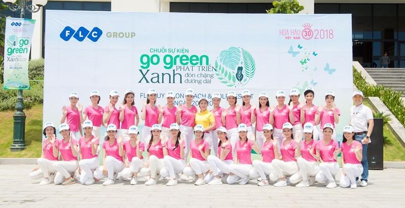 """Thí sinh Hoa hậu Việt Nam 2018  hào hứng tham gia chiến dịch """"Go Green"""" tại FLC Quy Nhơn"""