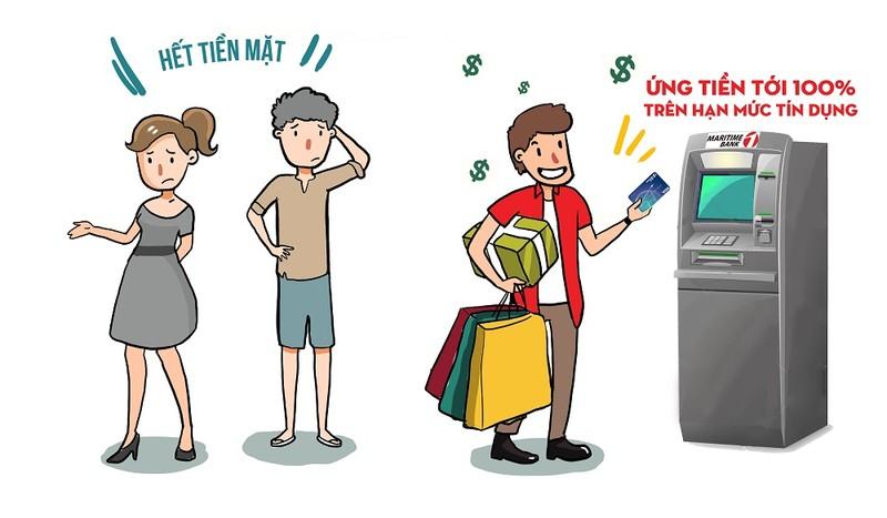 Ứng tiền từ thẻ tín dụng MSB