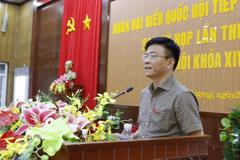 Bộ trưởng Lê Thành Long giải đáp nhiều thắc mắc của cử tri Kiên Giang