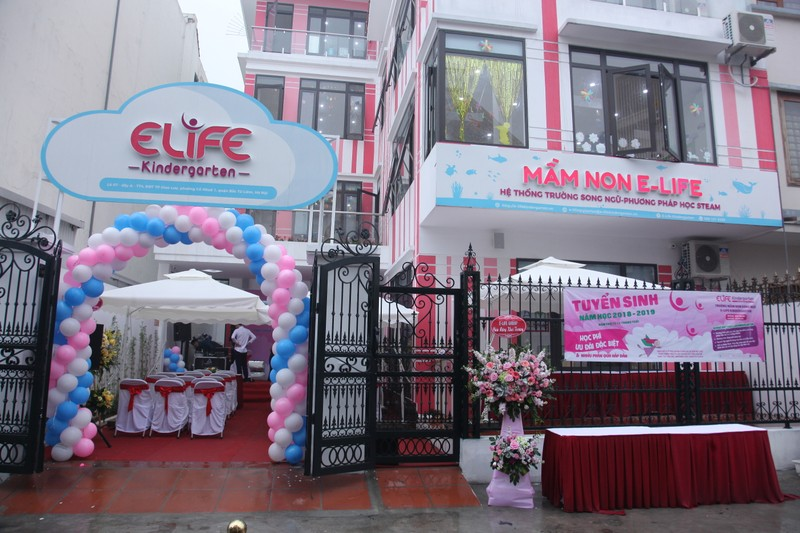 E-Life Group: Khai trương Mầm non Song ngữ E-Life - Cơ sở Thành phố Giao Lưu