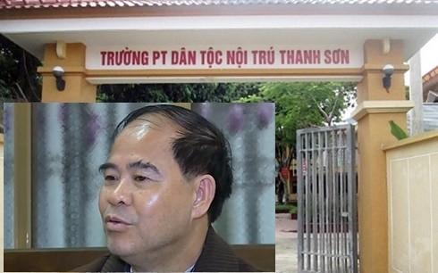 Cơ quan công an tỉnh Phú Thọ đã khởi tố, bắt tạm giam ông Đinh Bằng My, Hiệu trưởng trường Phổ thông dân tộc nội trú Thanh Sơn.