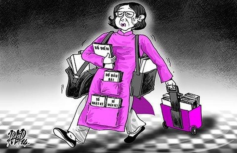 Giảm gánh nặng hồ sơ, sổ sách cho giáo viên