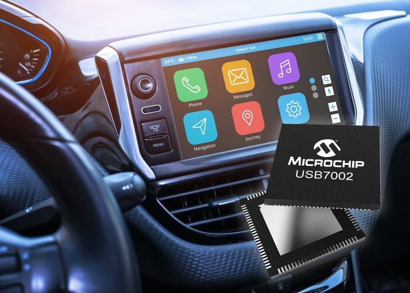 Công bố vi mạch USB 3.1 SmartHub hỗ trợ Type-C™ đầu tiên đạt chuẩn công nghiệp ô tô