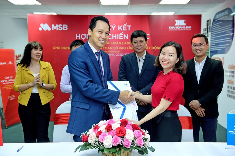 MSB triển khai giải pháp tài chính toàn diện cho khách hàng của Khải Hoàn land