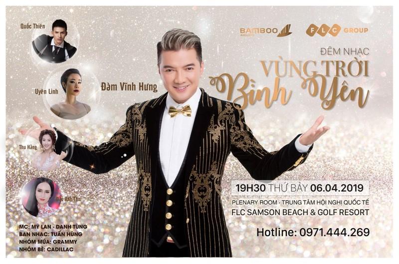 Bamboo Airways tặng khách mua combo bay TP HCM – Thanh Hoá vé xem đêm nhạc Đàm Vĩnh Hưng
