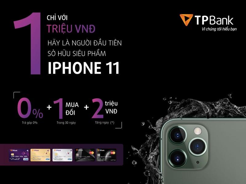Giảm ngay 2 triệu đồng khi đặt mua Iphone 11 bằng thẻ tín dụng TBank
