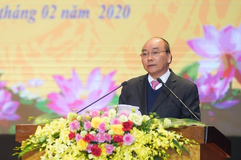 Thủ tướng Nguyễn Xuân Phúc phát biểu tại buổi lễ.