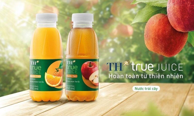 Tập đoàn TH ra mắt bộ sản phẩm TH true JUICE