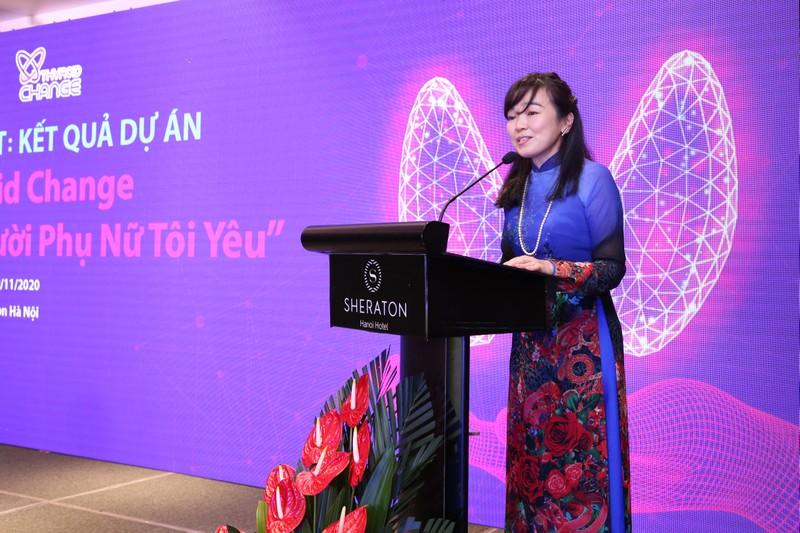 Bà Hideko Ikeda, Tổng Giám đốc Merck Việt Nam phát biểu tại sự kiện